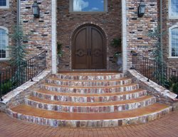 Concrete Entryways Solid Rock Concrete Services Gravette, AR