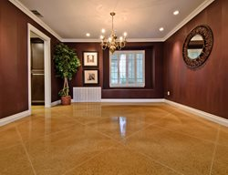 Concrete, Floor, Living Room, Diamond, Tan Concrete Floor Overlay ACI Flooring Inc Beaumont, CA