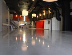 Polished, Polishable, Microtopping, Floor, Gray Concrete Floor Overlay Concrete Floors Polishing & Sealing Ltd Ottawa, ON