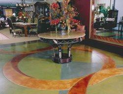 Geometric, Pastel Concrete Floors AFS Creative Finishes Sacramento, CA