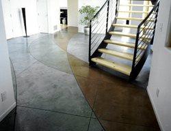 Intersecting Colors Entry Concrete Floors Diamond D Company Capitola Ca