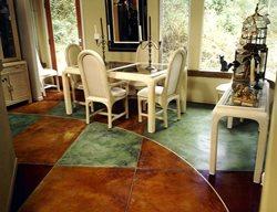 Multi Colored, Green Concrete Floors Diamond D Company Capitola, CA