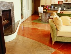 Red, Brown Concrete Floors Bomanite Corporation Madera, CA
