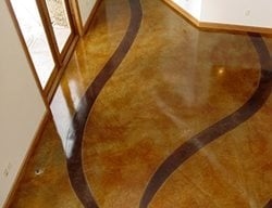 Ribbon Pattern Concrete Floors Cornerstone Concrete Designs Orrville, OH