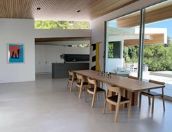Seamless Floor, Dining Room Concrete Floors LA Concrete Works West Hills, CA