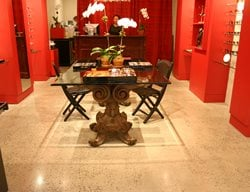 Speckled Tan Floor Concrete Floors Diversified Decorative Finishes Inc Brooklyn, NY