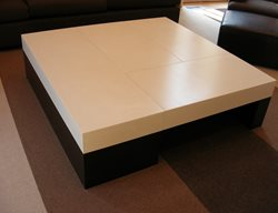 Black And White, Sectioned Coffee Table Concrete Furniture Oso Industries Brooklyn, NY