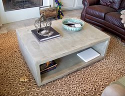 Box Coffee Table Concrete Furniture Concrete Countertops By Crane Covington, LA