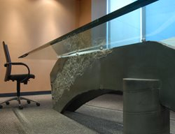 Grey Conference Table, Concrete Conference Table, Office Concrete Concrete Furniture California Concrete Designs Anaheim, CA