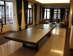 Large Concrete Dining Table Concrete Furniture Kerr Concrete Evanston, IL
