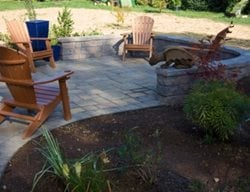 Chairs, Retaining Wall, Stampe Concrete, Patio Concrete Patios Nature Boys Landscape & Construction, Inc Boonsboro, MD