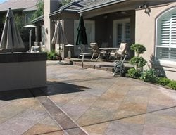Colored Stamped Patio Concrete Patios Richardson's Concrete Effects Carmichael, CA