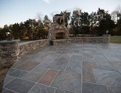 Faux Slate, Seat Walls Concrete Patios Salzano Custom Concrete Aldie, VA