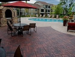 Fireplace Patio Concrete Patios Commercial Concrete Solutions Platte City, MO