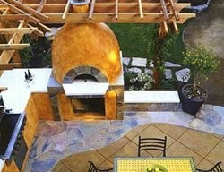 Golden Dome Fireplace Picture Concrete Patios Tom Ralston Concrete Santa Cruz, CA