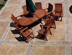 Patio, Table, Chairs, Stained, Pattern Concrete Patios CDS New England, Inc Wrentham, MA