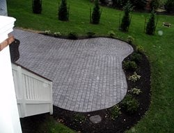 Pavers, Circle Concrete Patios Salzano Custom Concrete Aldie, VA