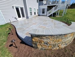 Stamped Concrete Patio, Hand Detailed Concrete Patios Salzano Custom Concrete Aldie, VA