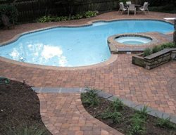 Pool Deck Pavers Concrete Pavers NRC Landscape Construction Vienna, VA