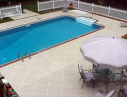 Bone, Squares Concrete Pool Decks Custom Design Concrete Resurfacing Locust Grove, GA