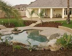 Boulders, Natural Concrete Pool Decks Heritage Bomanite Fresno, CA