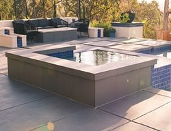 Concrete, Concrete Pool Deck, Concrete Spa, Decorative Concrete, Outdoor Living Concrete Pool Decks Quick Creations Newcastle, CA