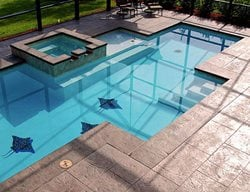 Concrete Pool Deck, Decorative Concrete, Custom Concrete, Custom Pool, Pool Design, Pool, Pool Deck Concrete Pool Decks GMS Decorative Concrete Nashua, NH