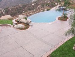 Disappearing Edge, Sand Blasted Concrete Pool Decks New Images Concrete Construction Lakeside, CA