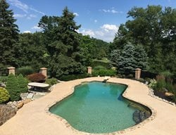 Exposed Aggregate, Swimming Pool, Stone Coping Concrete Pool Decks Complete Concrete Systems Milton, DE