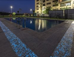 Glow In The Dark Pool Deck Concrete Pool Decks HM Concrete Design Rockville, MD