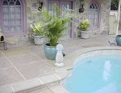 Grey, Squares Concrete Pool Decks Tri-State Concrete Coatings, Inc. Middletown, MD