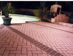 Red Brick, Borders Concrete Pool Decks Sundek of Austin Austin, TX