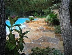 Stamped Pool Deck, Concrete Pool Deck, Colored Pool Deck Concrete Pool Decks Sublime Concrete Solutions LLC. Plano, TX