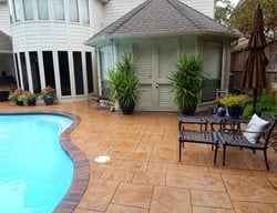 Stamped Pool Deck, Stamped Concrete Concrete Pool Decks EE Construction & Renovations Orlando, FL