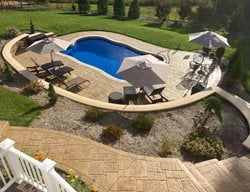 Stamped Stone, Stamped Pool Deck Concrete Pool Decks Greystone Masonry Inc Stafford, VA