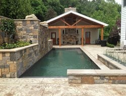 Textured Pool Deck, Poured Concrete Coping Concrete Pool Decks CustomCrete Saint Peters, MO