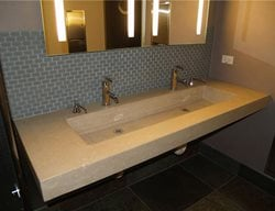 Commercial, Floating Concrete Sinks Custom Crete Werks LLC Racine, WI