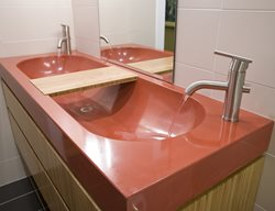 Concrete Trough Basin Sink Concrete Sinks Reaching Quiet Design Charlotte, NC