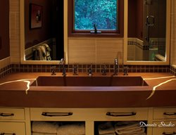 Double Sink, Trough Sink, Cast Concrete, Veining Concrete Sinks SunWorks Decorative Concrete LLC Annville, PA