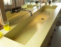 Green Double Sink Concrete Sinks Flying Turtle Cast Concrete Modesto, CA