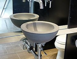 Grey, Bowl Concrete Sinks Two Stones Design Bettendorf, IA