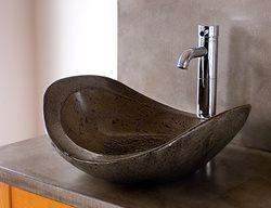 Modern Bowl, Stone Concrete Sinks BDWG Concrete Studio Inc Banner Elk, NC