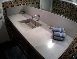 Ramp Sink, Concrete Backsplash Concrete Sinks Art Of Concrete Encino, CA