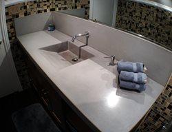 Ramp Sink, Concrete Backsplash Concrete Sinks Art Of Concrete Encino, CA
