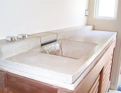 Waterfall, Cream Concrete Sinks Leed General Consultants Oakland, CA