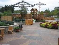 Arboretum, Stained Concrete Concrete Walkways Designing Concrete Inc Woodstock, IL