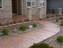 Concrete, Concrete Walkway, Decorative Concrete, Curb Appeal Concrete Walkways Shades of Color, Inc. Littleton, CO