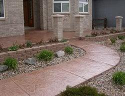Concrete, Concrete Walkway, Decorative Concrete, Curb Appeal Concrete Walkways Shades of Color, Inc. Littleton, CO