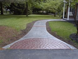 Gray, Brick Red, Cobblestone Concrete Walkways Concrete Styles Inc Schwenksville, PA