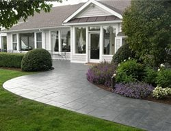 Stamped Front Walkway Concrete Walkways Bedford Concrete & Masonry LLC White Plains, NY